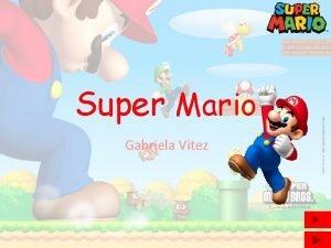 Super Mario Gabriela Vitez Super Mario Fiktivni lik
