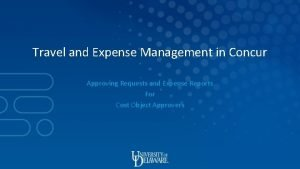 Travel and Expense Management in Concur Approving Requests