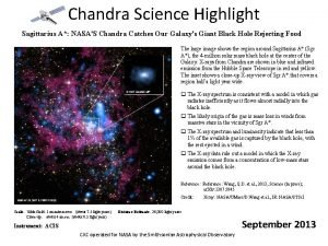 Chandra Science Highlight Sagittarius A NASAS Chandra Catches