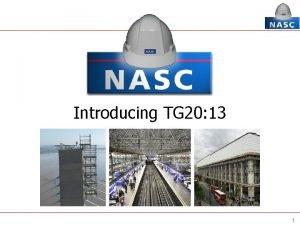 Introducing TG 20 13 1 Introducing TG 20
