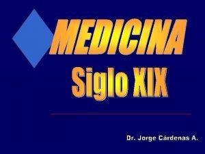 Dr J Cardenas SIGLO XIX Siglo XIX La