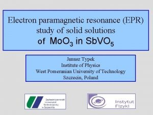 Electron paramagnetic resonance EPR study of solid solutions