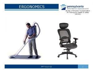 ERGONOMICS Bureau of Workers Compensation PA Training for
