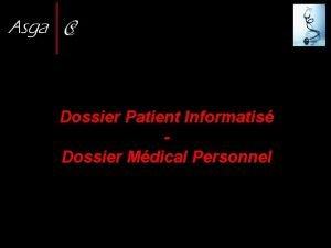 Dossier Patient Informatis Dossier Mdical Personnel Plan 1re