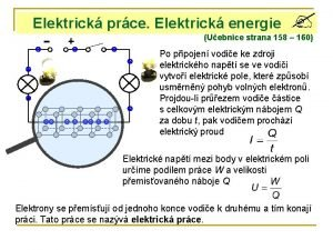 Elektrick prce Elektrick energie Uebnice strana 158 160