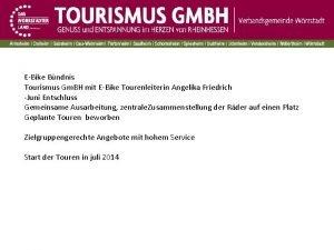 EBike Bndnis Tourismus Gm BH mit EBike Tourenleiterin