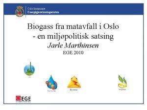 Oslo kommune Energigjenvinningsetaten Biogass fra matavfall i Oslo