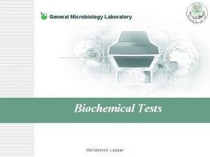General Microbiology Laboratory Biochemical Tests Mohammed Laqqan Nitrate