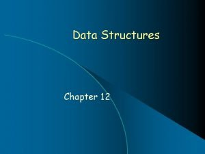 Data Structures Chapter 12 Chapter Contents Chapter Objectives