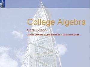 College Algebra Sixth Edition James Stewart Lothar Redlin