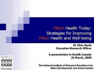 Mori Health Today Strategies for Improving Mori Health