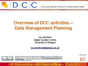 because good research needs good data Overview of