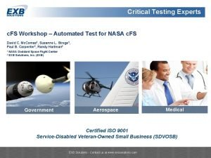 Critical Testing Experts Critical Systems Testing Experts c