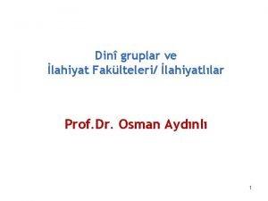 Din gruplar ve lahiyat Faklteleri lahiyatllar Prof Dr