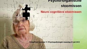 Psychoorganische stoornissen Neuro cognitieve stoornissen Neurocognitieve Stoornissen cyclus