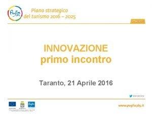 INNOVAZIONE primo incontro Taranto 21 Aprile 2016 bbronzino