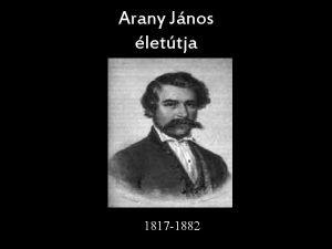 Arany Jnos lettja 1817 1882 n valk reg