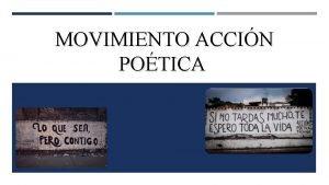 MOVIMIENTO ACCIN POTICA NDICE 1 Portada 2 ndice