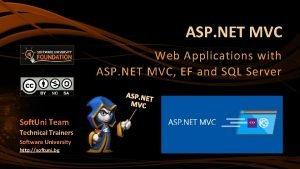 ASP NET MVC Web Applications with ASP NET