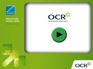 OCR Level 2 Cambridge Technicals in Health and