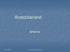 Rostockerland Antonio 27112020 a cura di Celeri Antonio