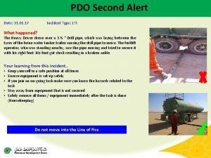 PDO Second Alert Date 31 01 17 Incident