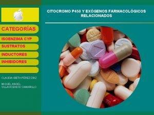 CITOCROMO P 450 Y EXGENOS FARMACOLGICOS RELACIONADOS CATEGORAS