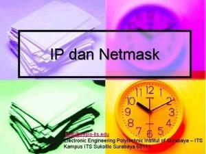 IP dan Netmask isbateepisits edu Electronic Engineering Polytechnic
