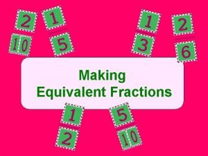 Making Equivalent Fractions To Make Equivalent Fractions Multiply