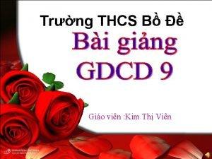 Trng THCS B Gio vin Kim Th Vin