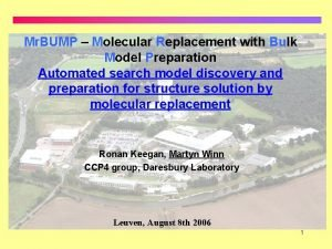 Mr BUMP Molecular Replacement with Bulk Model Preparation