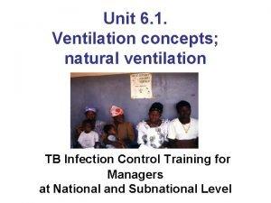 Unit 6 1 Ventilation concepts natural ventilation TB