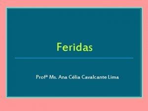 Feridas Prof Ms Ana Clia Cavalcante Lima Pele
