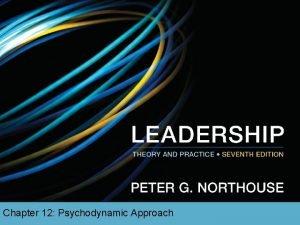 Chapter 12 Psychodynamic Approach Overview Psychodynamic Approach Perspective