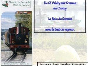 De St Valry sur Somme au Crotoy La