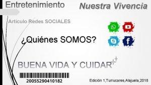 Nuestra Vivencia Articulo Redes SOCIALES Quines SOMOS Edicin