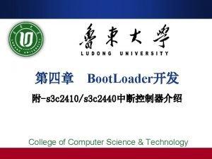Boot Loader s 3 c 2410s 3 c