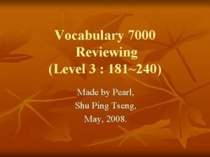 Vocabulary 7000 Reviewing Level 3 181240 Made by