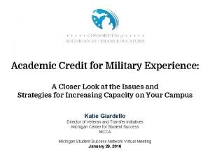 Academic Credit for Military Experience A Closer Look
