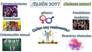 Entretenimiento QUIN SOY gnero feminismo Orientacin sexual Quienes