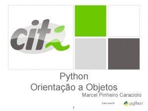 Python Orientao a Objetos Marcel Pinheiro Caraciolo Python