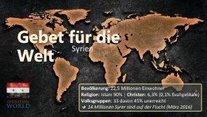 Gebet fr die Syrien Welt Bevlkerung 22 5