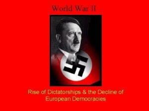 World War II Rise of Dictatorships the Decline