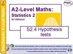 A 2 Level Maths Statistics 2 for Edexcel