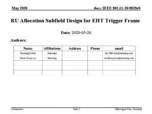 May 2020 doc IEEE 802 11 200828 r