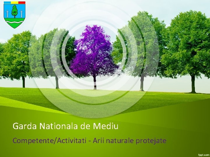 Garda Nationala de Mediu CompetenteActivitati Arii naturale protejate