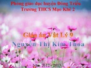 Phng gio dc huyn ng Triu Trng THCS