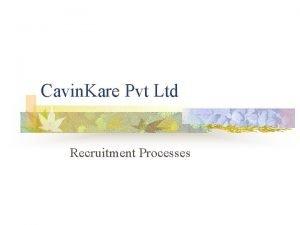 Cavin Kare Pvt Ltd Recruitment Processes Topics covered