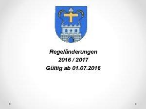 DFB Regelnderungen 2016 2017 Gltig ab 01 07