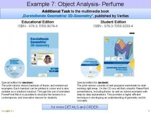 Example 7 Object Analysis Perfume Additional Task to